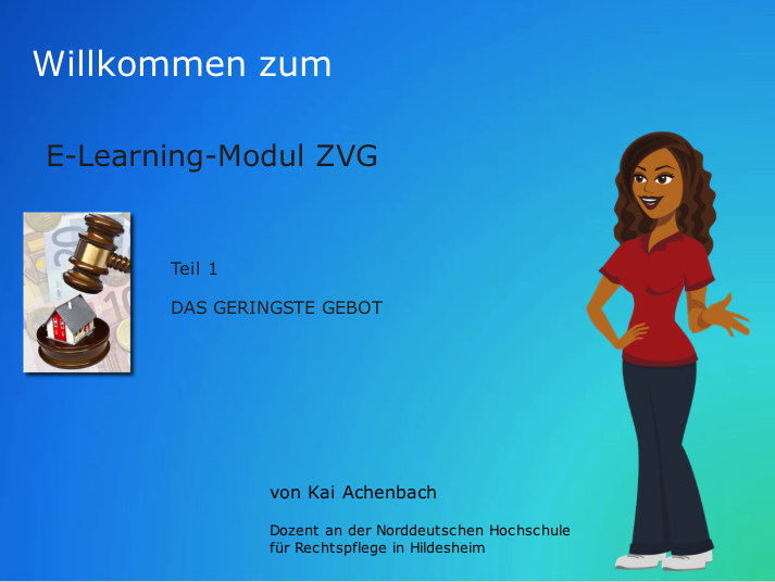 """E-Learning zur """"Zwangsversteigerung"""""""